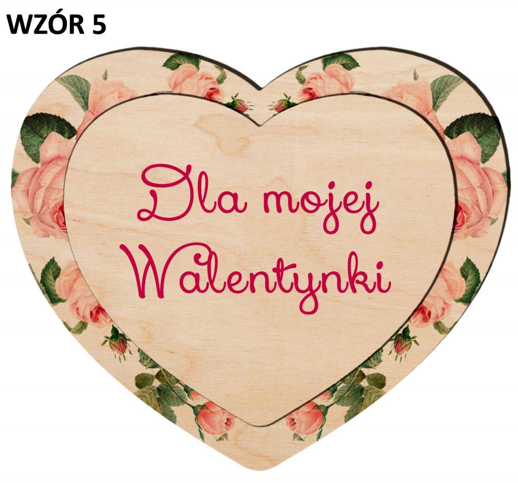 Serduszko na Walentynki - magnesy wzór 5