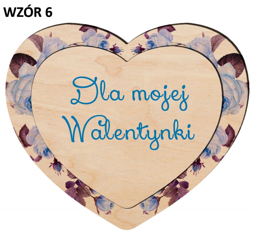 Serduszko na Walentynki - magnesy wzór 6