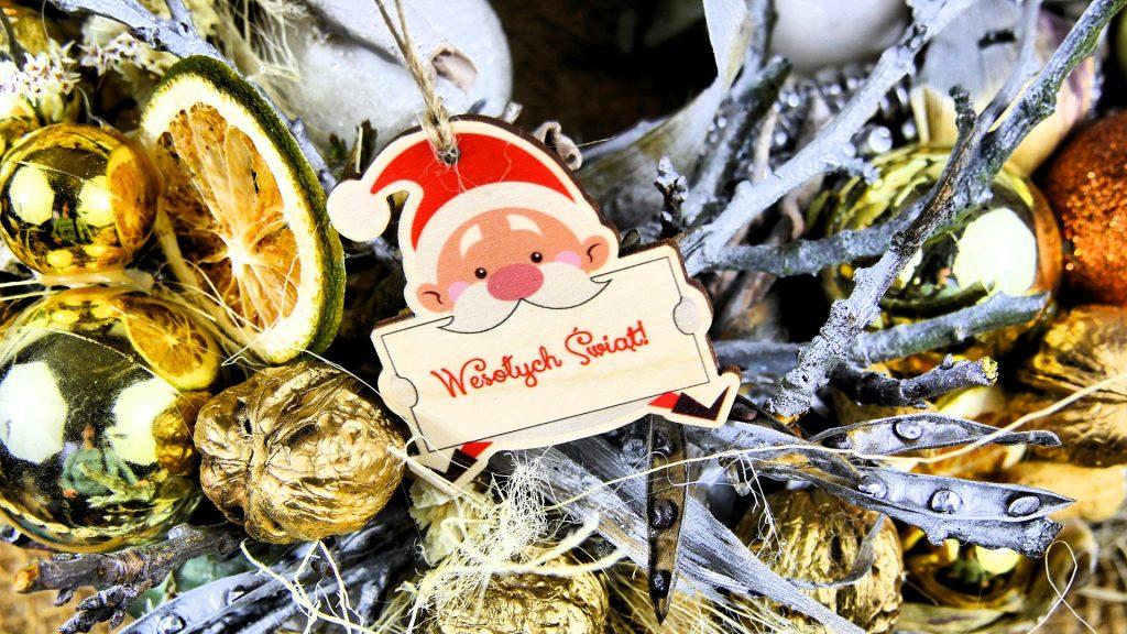 Bombki na stroik świąteczny