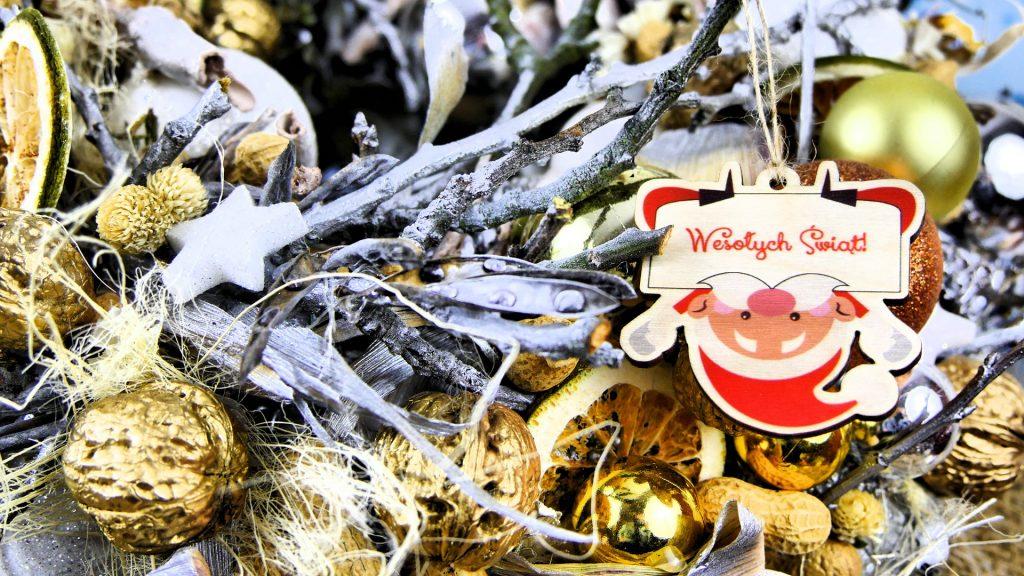 Bombka na stroik świąteczny