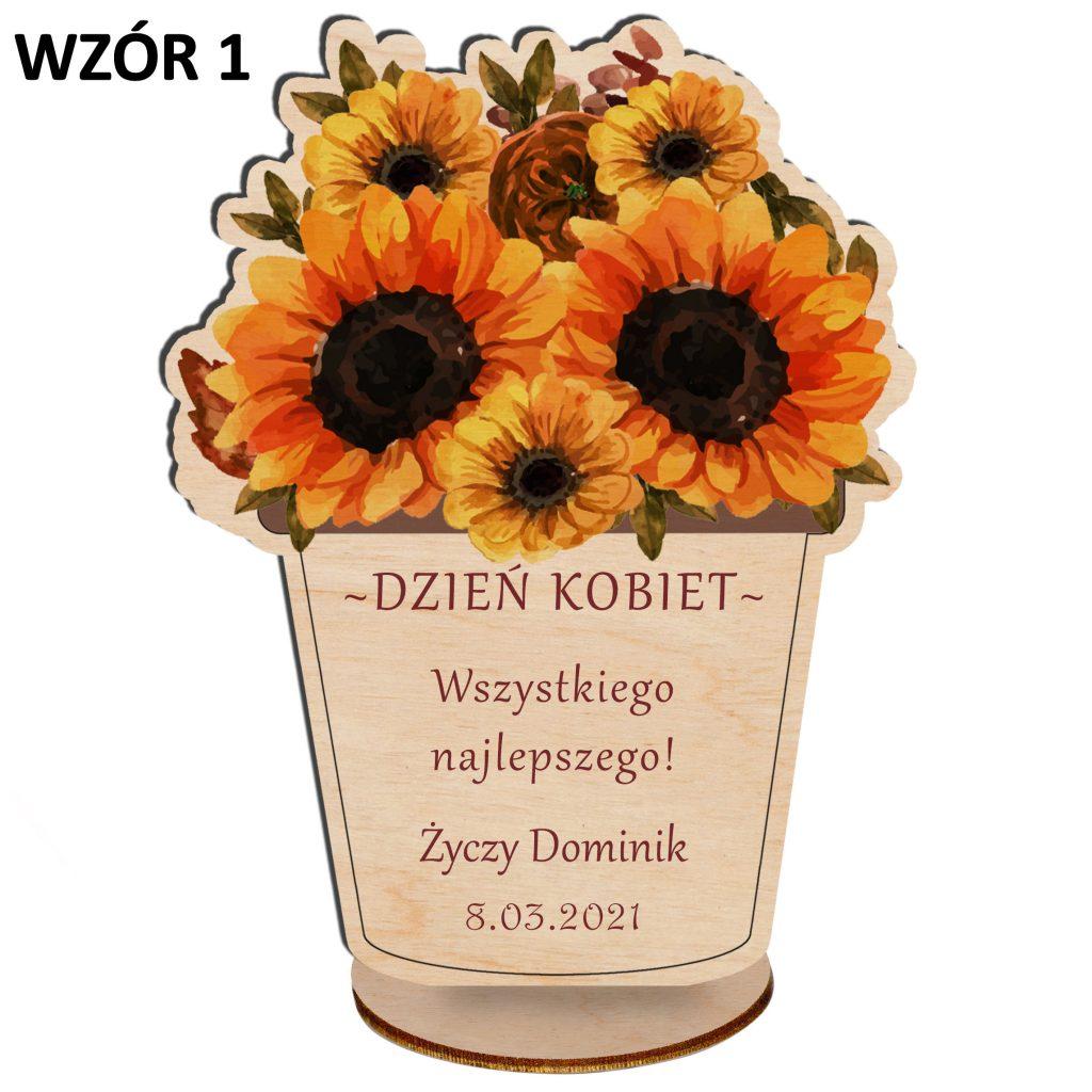 kwiaty na dzień kobiet - statuetka wzór 1