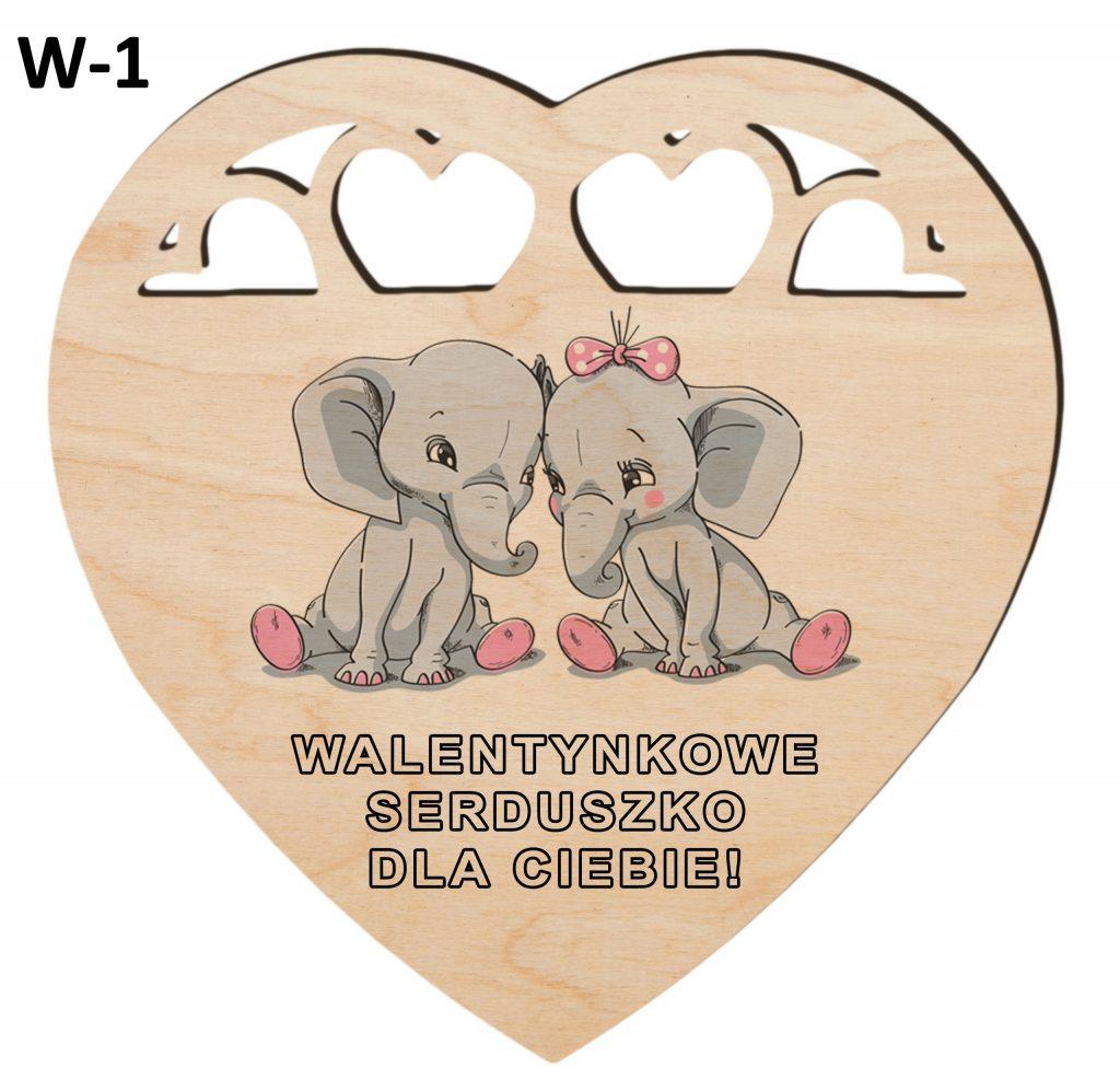 Pamiątki na Walentynki - serduszko wzór 1