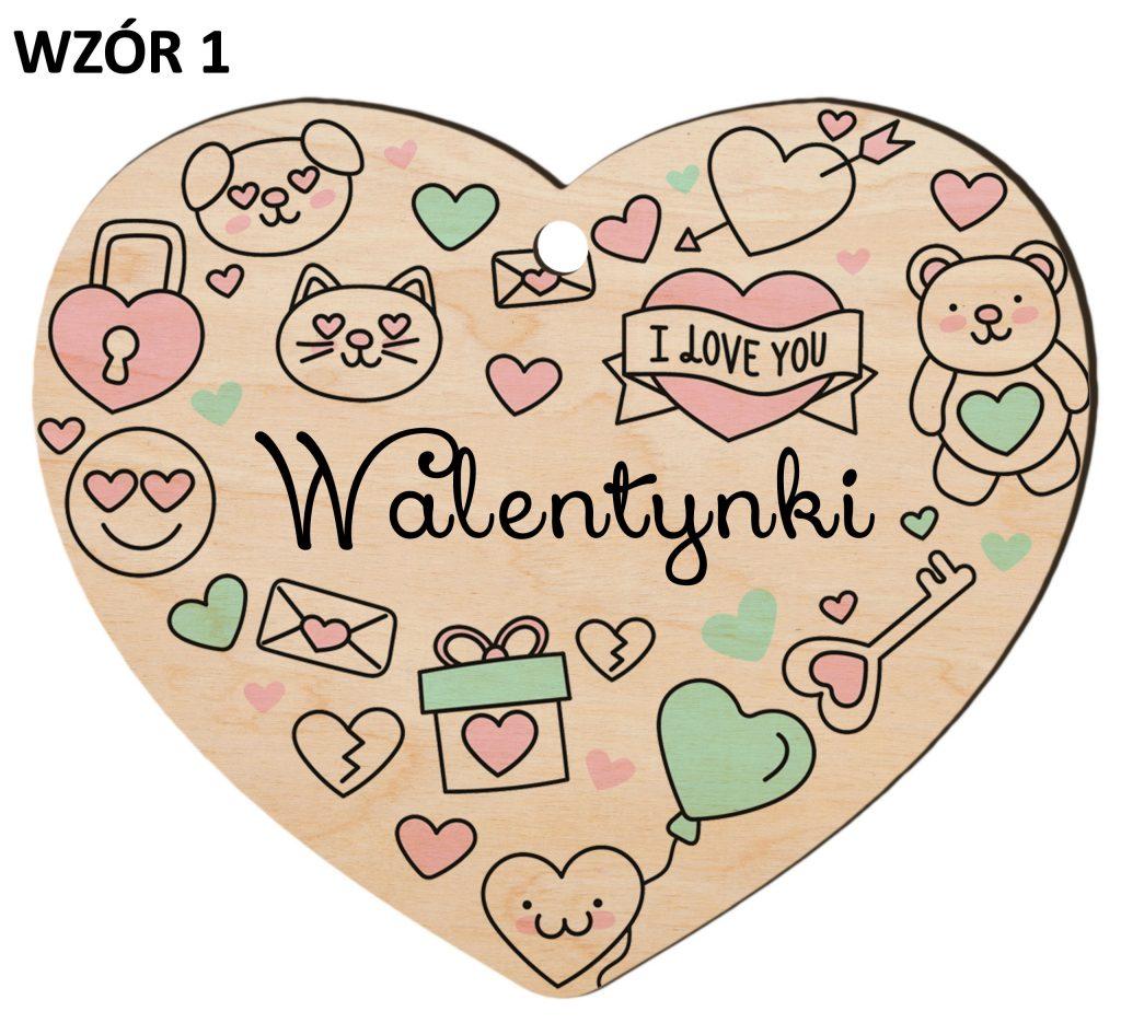Zawieszka na Dzień Zakochanych - walentynki wzór 1