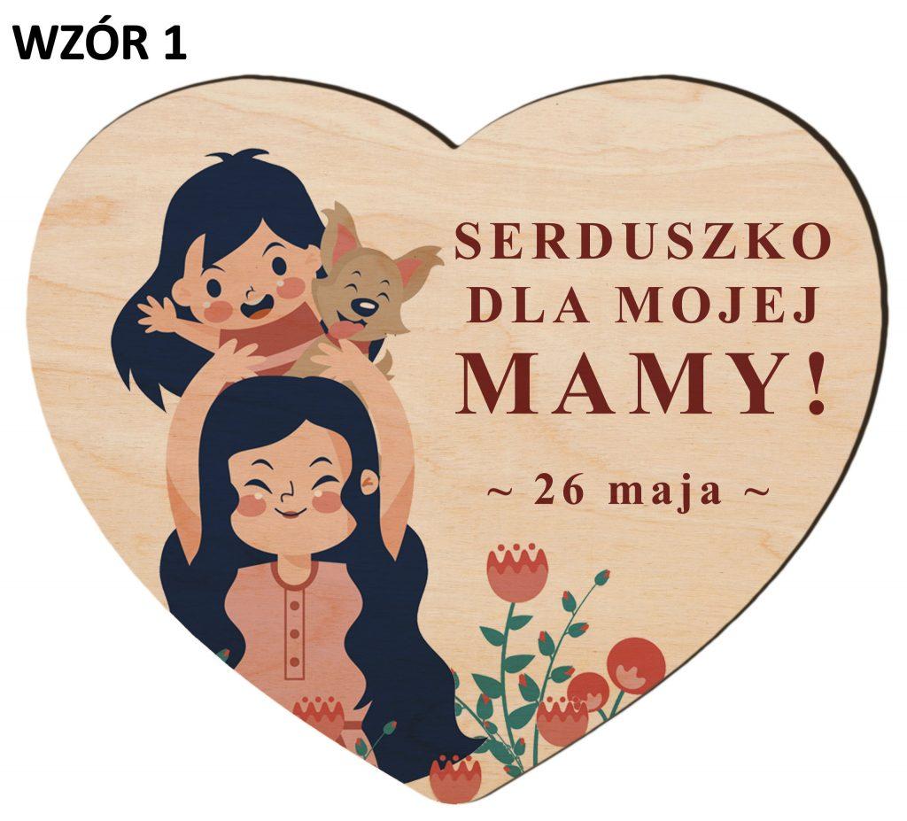 Serce z magnesem na Dzień Matki - wzór 1