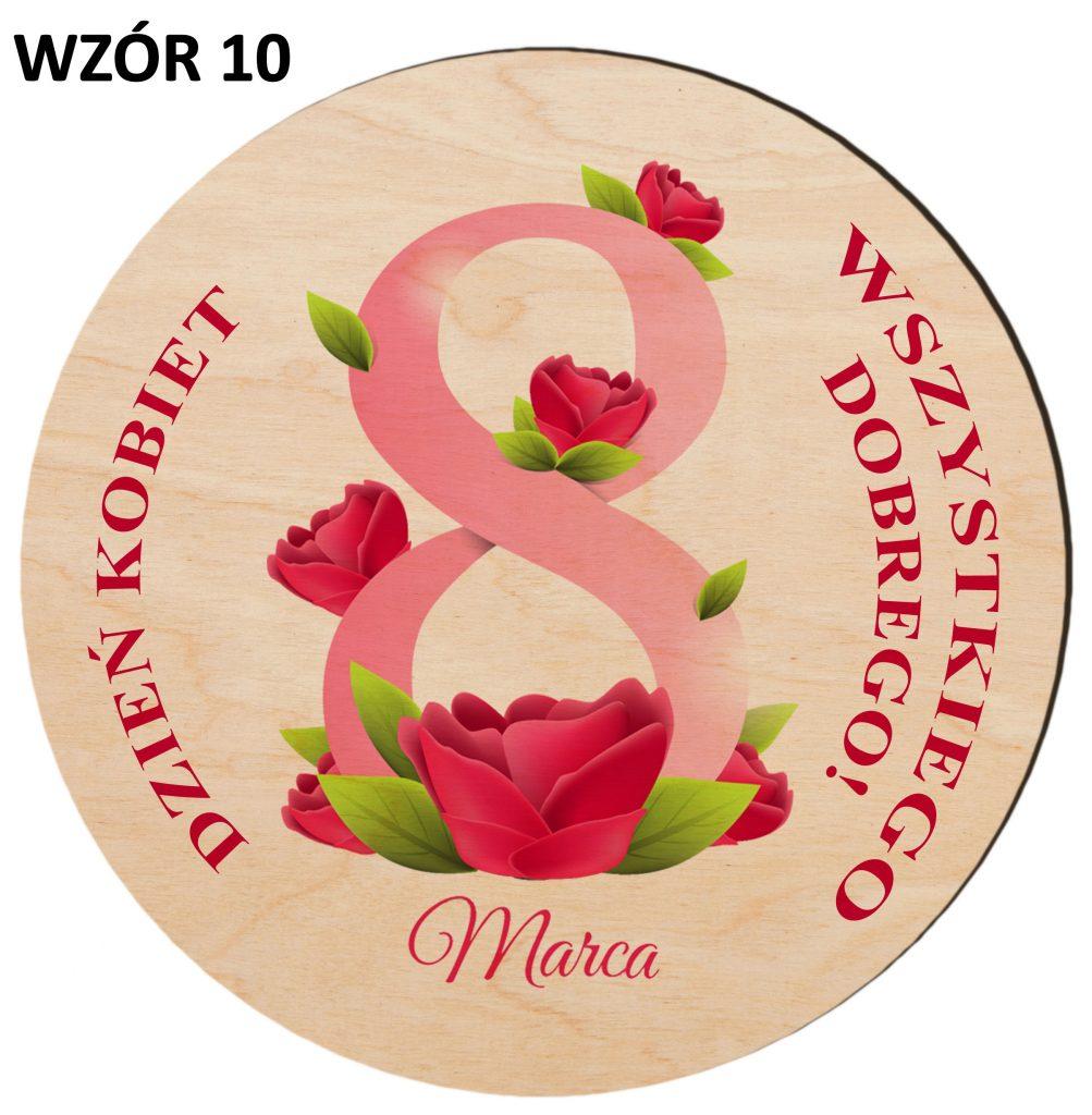 Prezenty na Dzień Kobiet - magnesy wzór 10