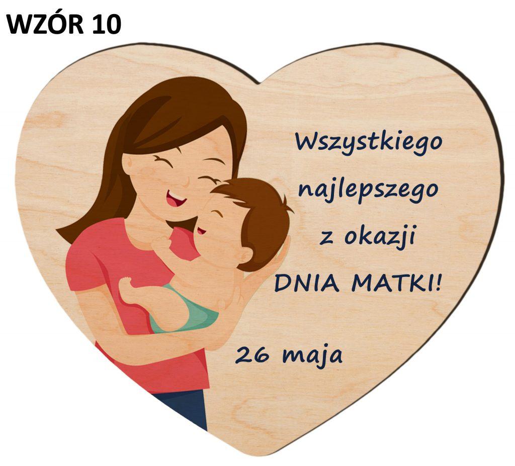 Serce z magnesem na Dzień Matki - wzór 10