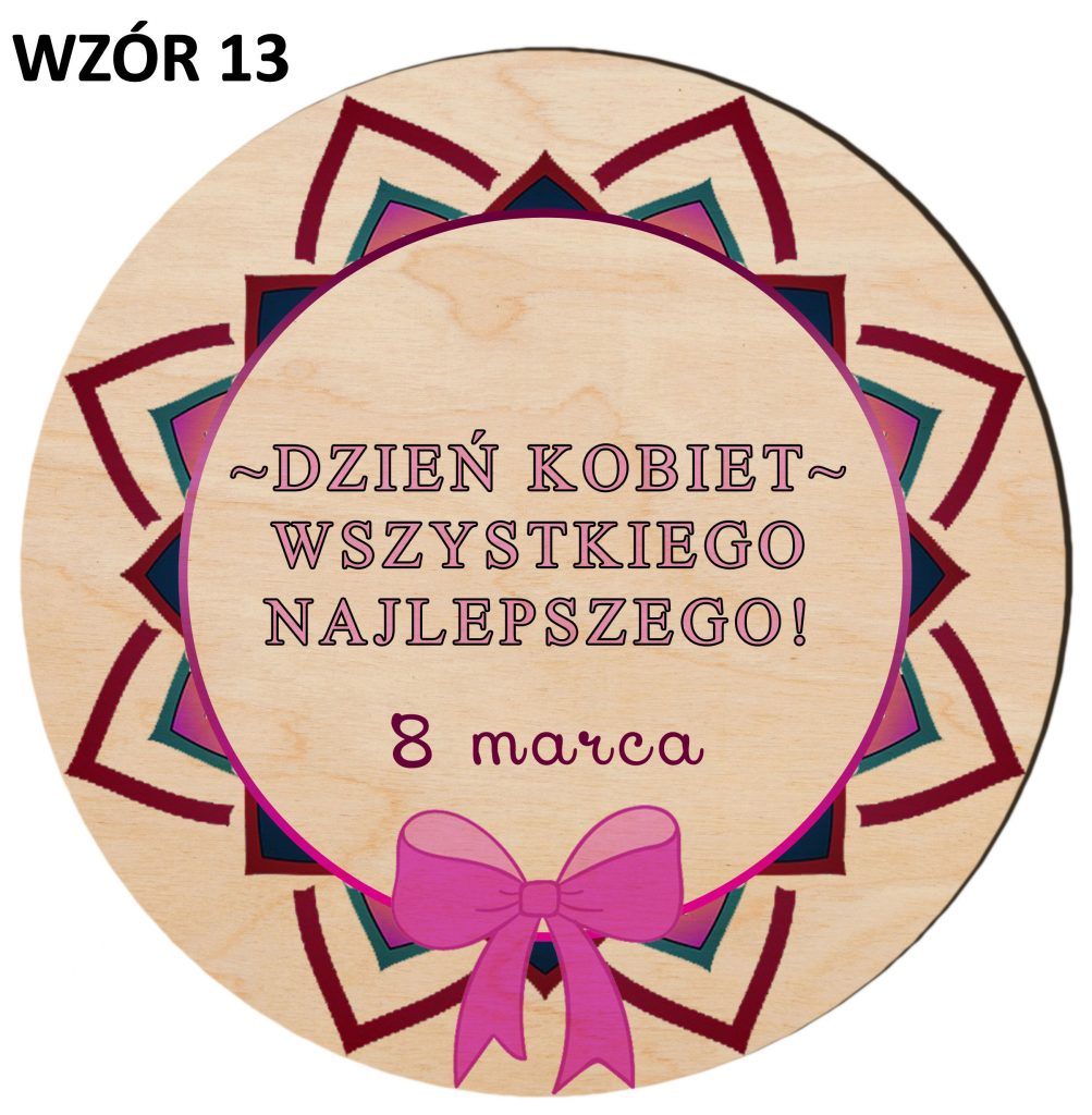 Prezenty na Dzień Kobiet - magnesy wzór 13