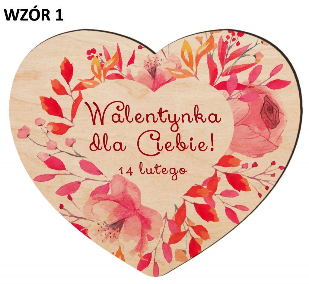 Upominki na Walentynki - serce wzór 1