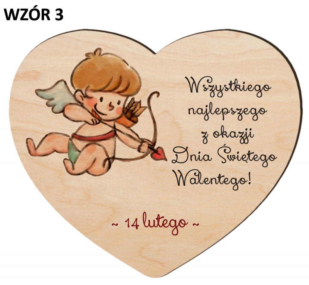 Upominki na Walentynki - serce wzór 3