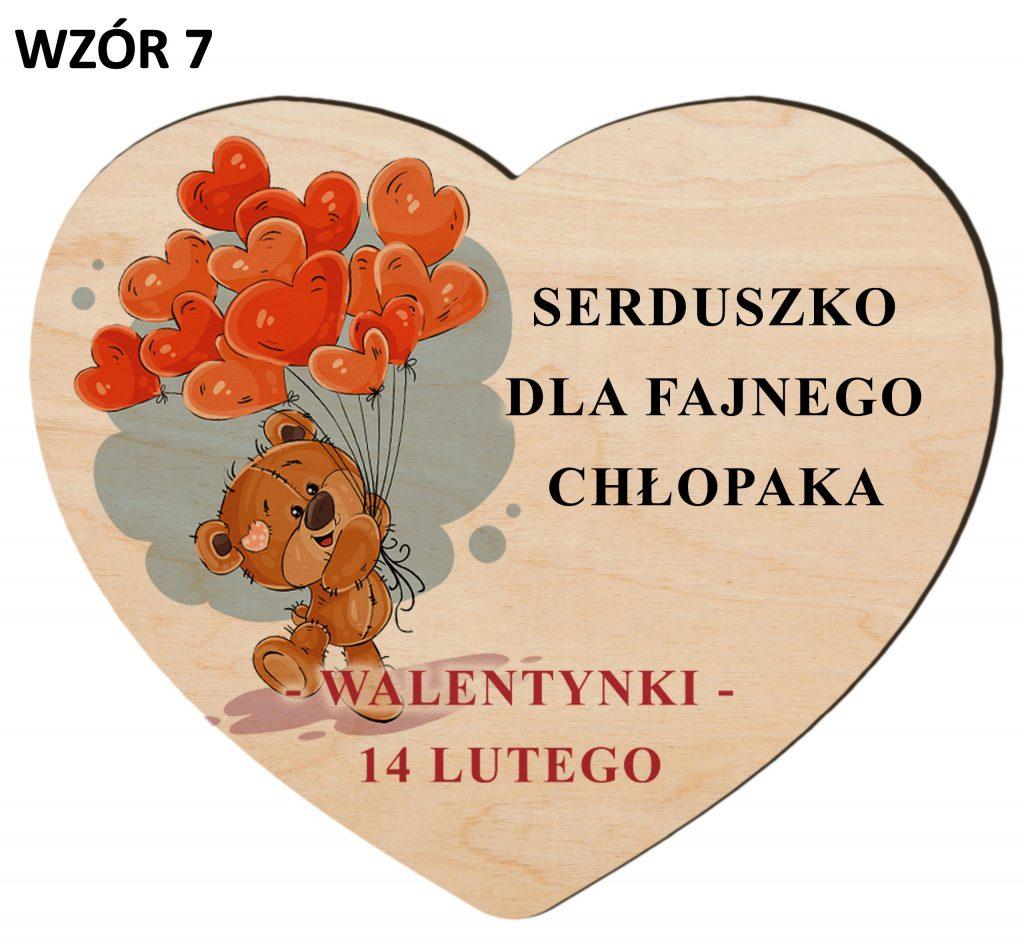 Upominki na Walentynki - serce wzór 7