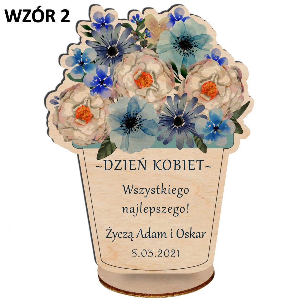 kwiaty na dzień kobiet - statuetka wzór 2