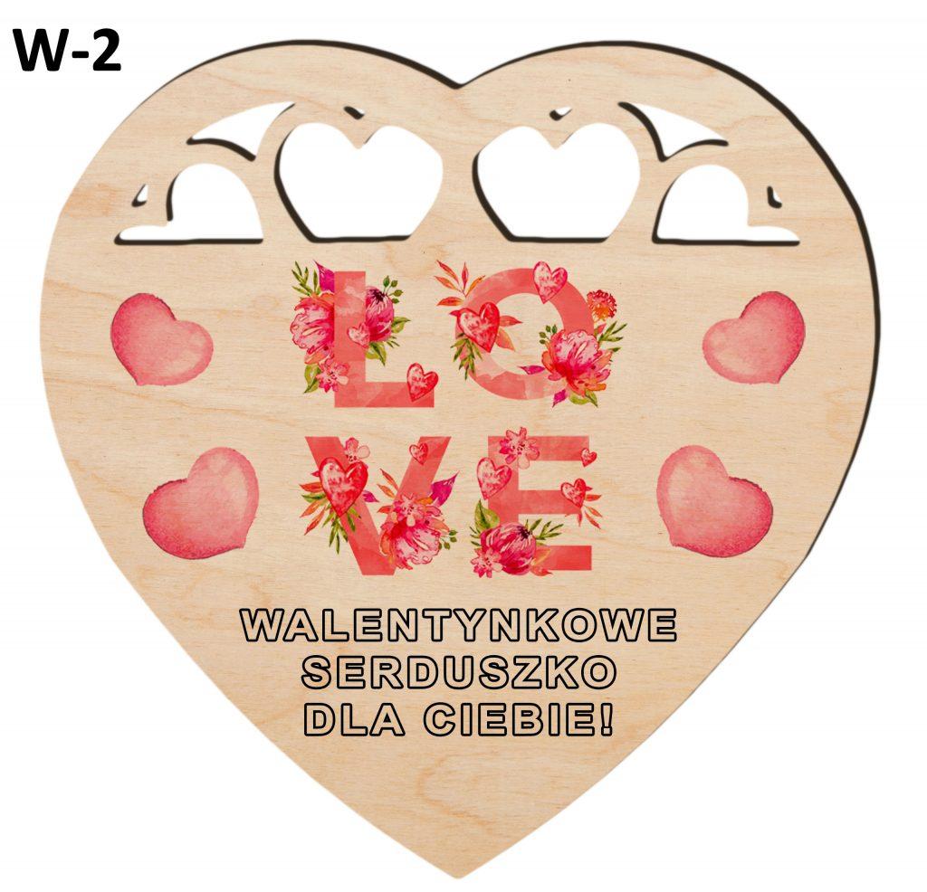 Pamiątki na Walentynki - serduszko wzór 2