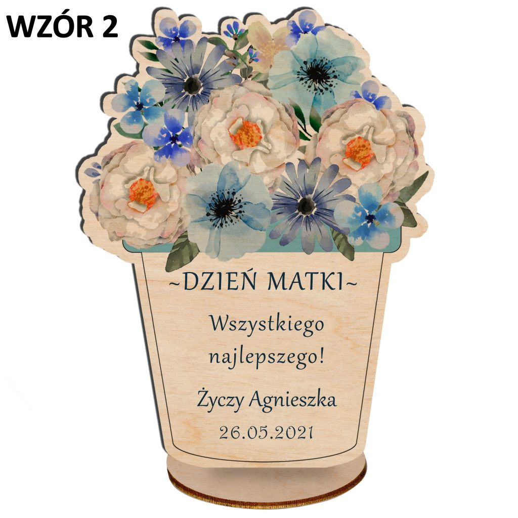 Kwiaty na Dzień Matki - statuetka wzór 2