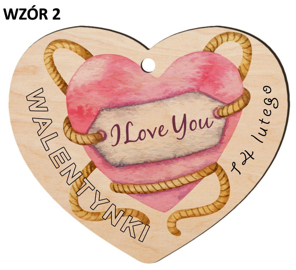 Zawieszka na Dzień Zakochanych - walentynki wzór 2