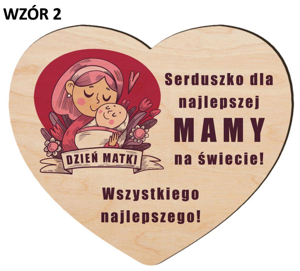 Serce z magnesem na Dzień Matki - wzór 2