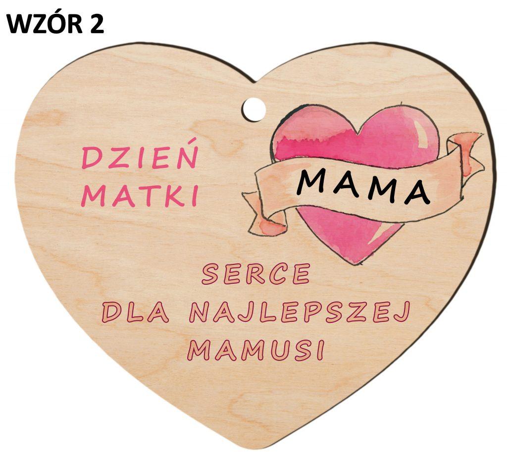 Zawieszka na Dzień Matki - serduszko wzór 2