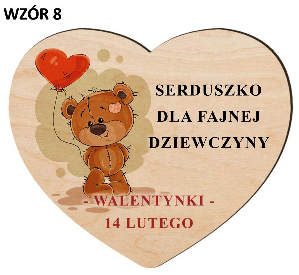 Upominki na Walentynki - serce wzór 8