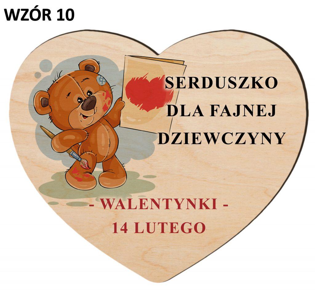 Upominki na Walentynki - serce wzór 10