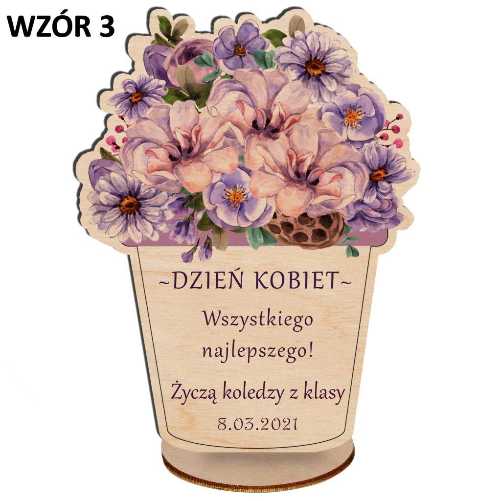 kwiaty na dzień kobiet - statuetka wzór 3