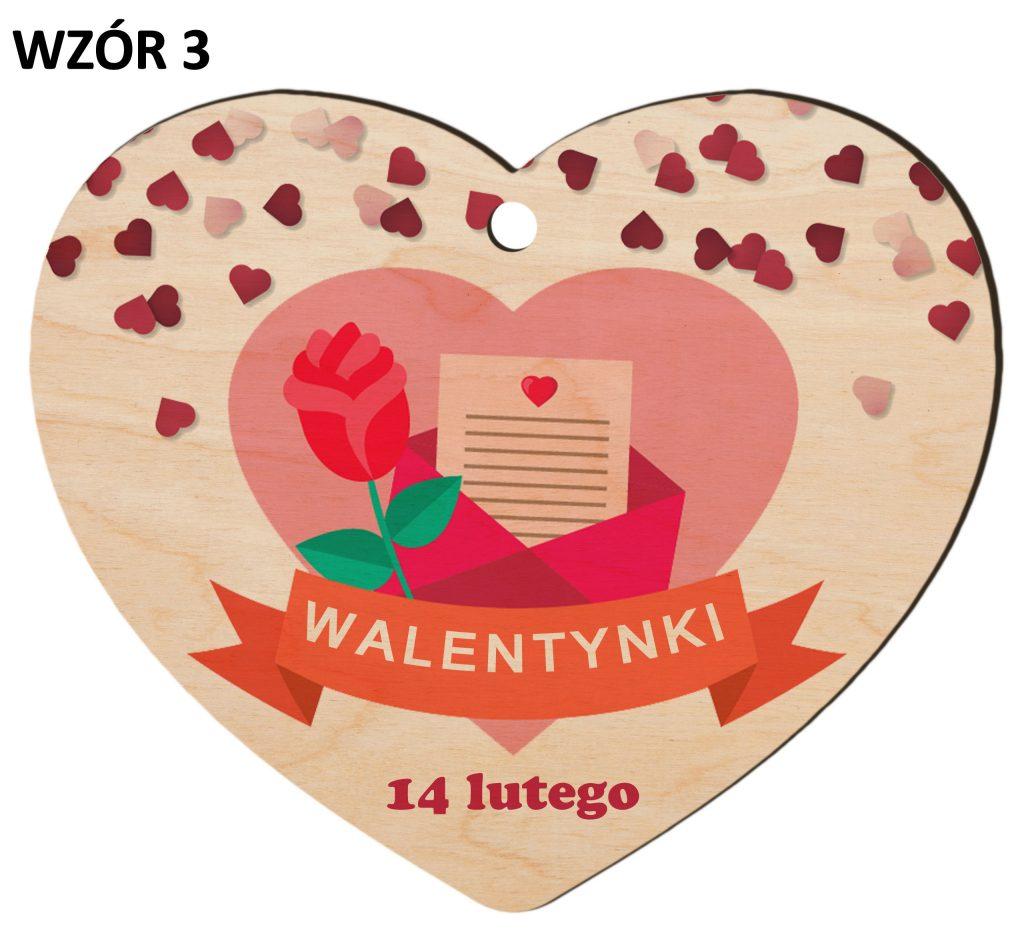 Zawieszka na Dzień Zakochanych - walentynki wzór 3