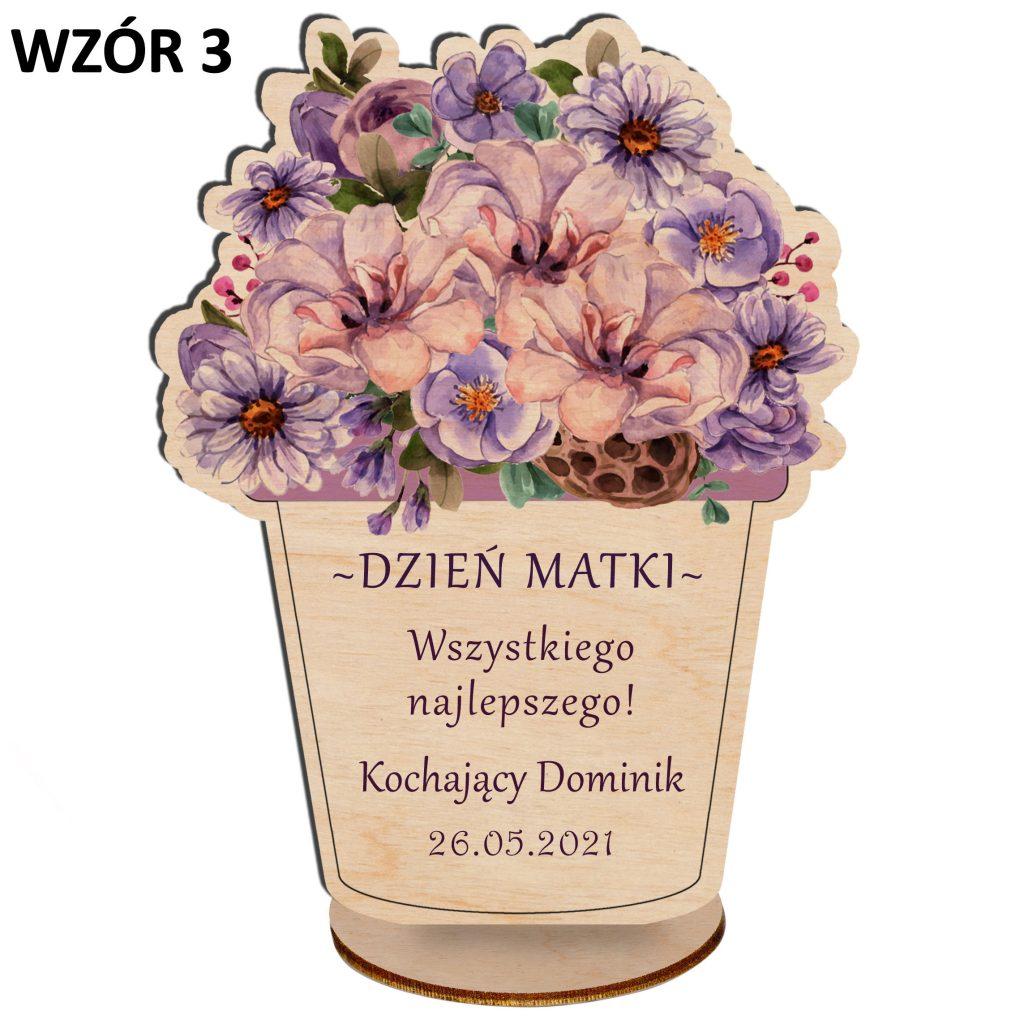 Kwiaty na Dzień Matki - statuetka wzór 3