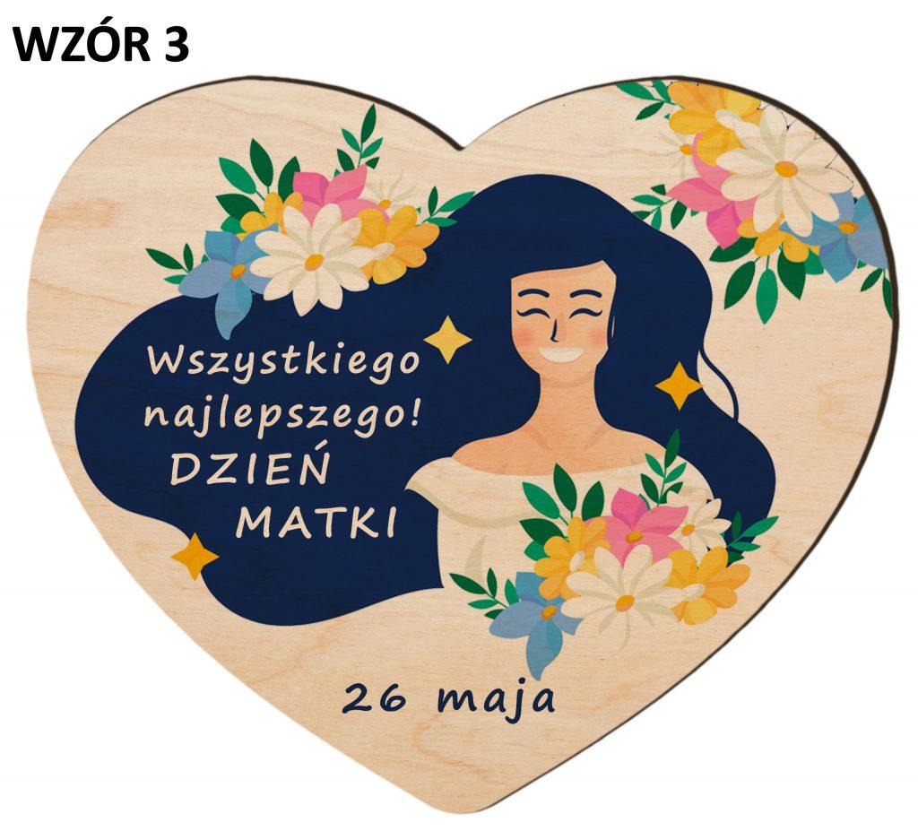 Serce z magnesem na Dzień Matki - wzór 3