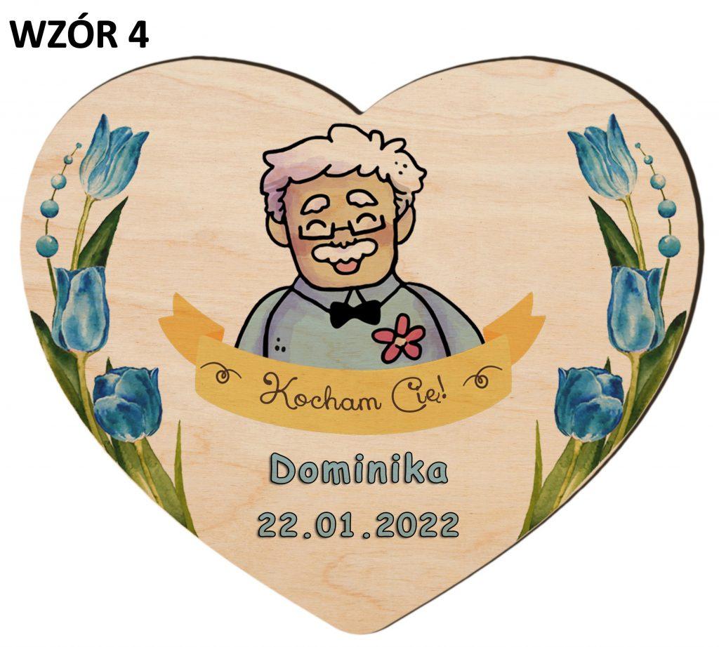Dzień Babci i Dzień Dziadka - magnesy wzór 4
