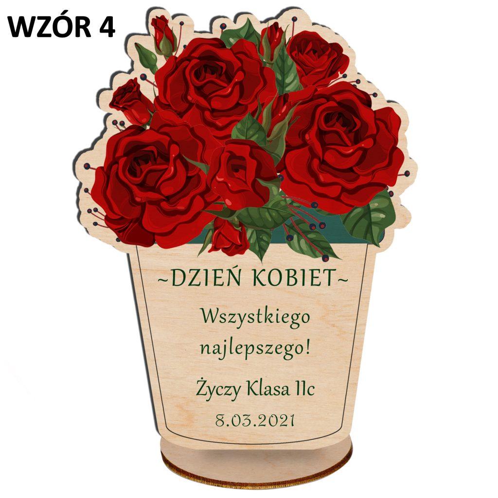 kwiaty na dzień kobiet - statuetka wzór 4