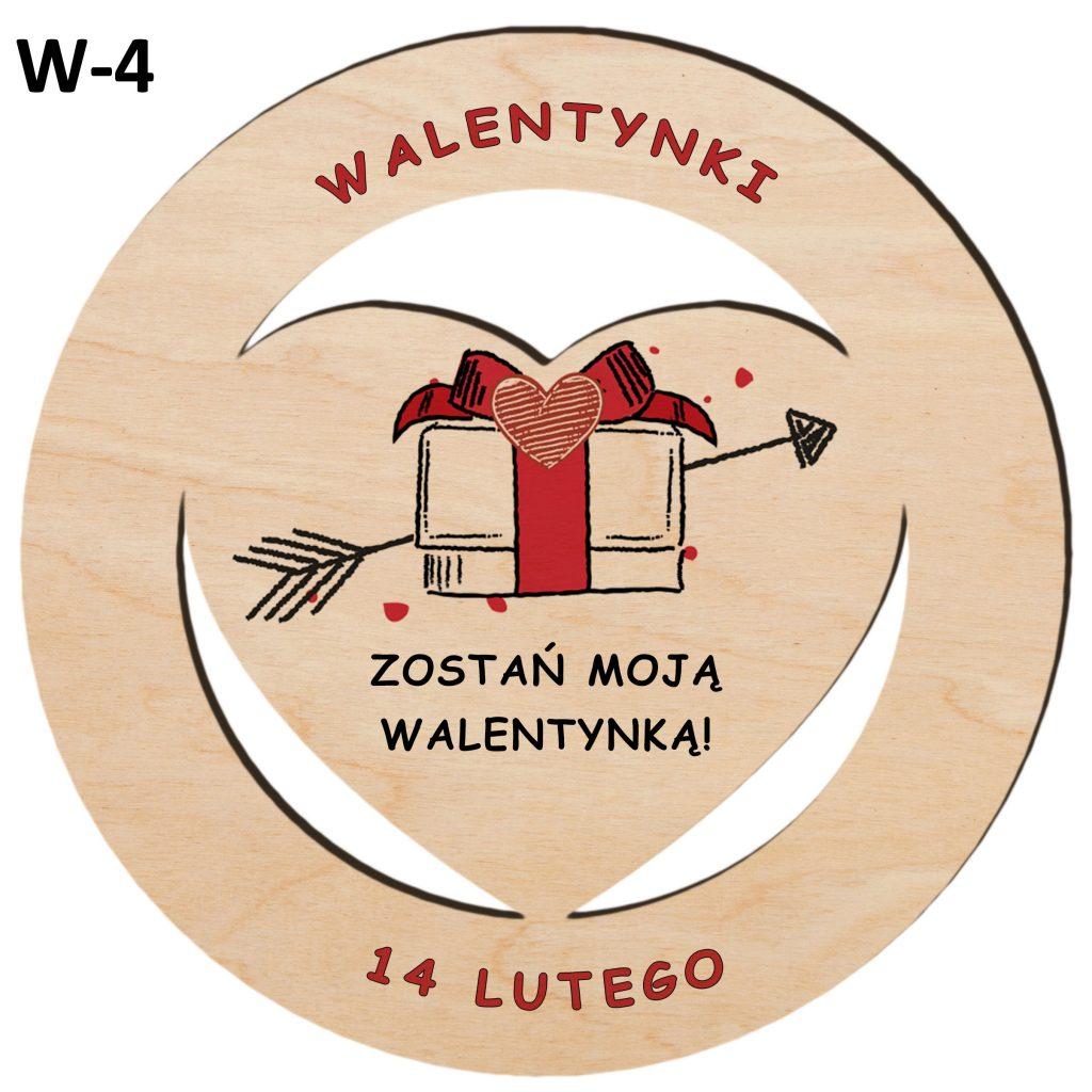 Upominek na Walentynki - serce w kole wzór 4