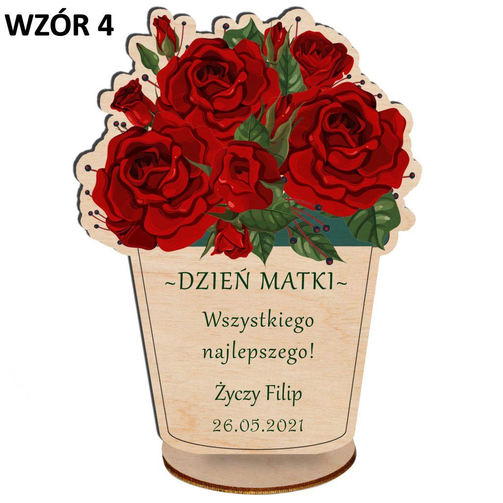 Kwiaty na Dzień Matki - statuetka wzór 4