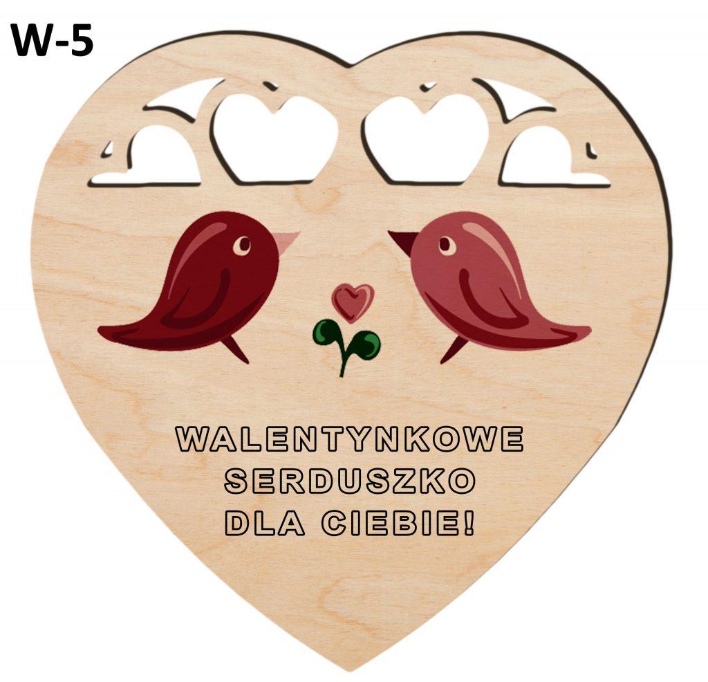 Pamiątki na Walentynki - serduszko wzór 5