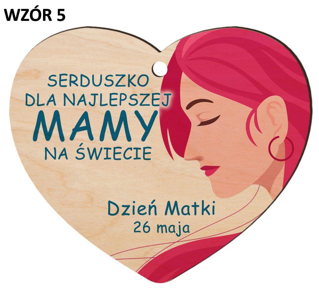 Zawieszka na Dzień Matki - serduszko wzór 5