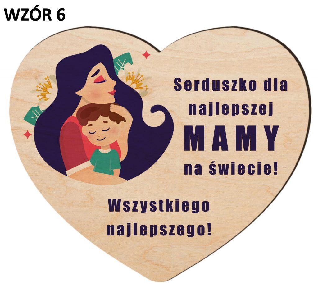Serce z magnesem na Dzień Matki - wzór 6