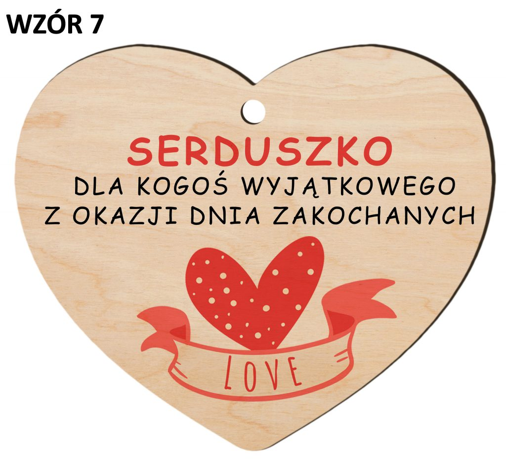 Zawieszka na Dzień Zakochanych - walentynki wzór 7