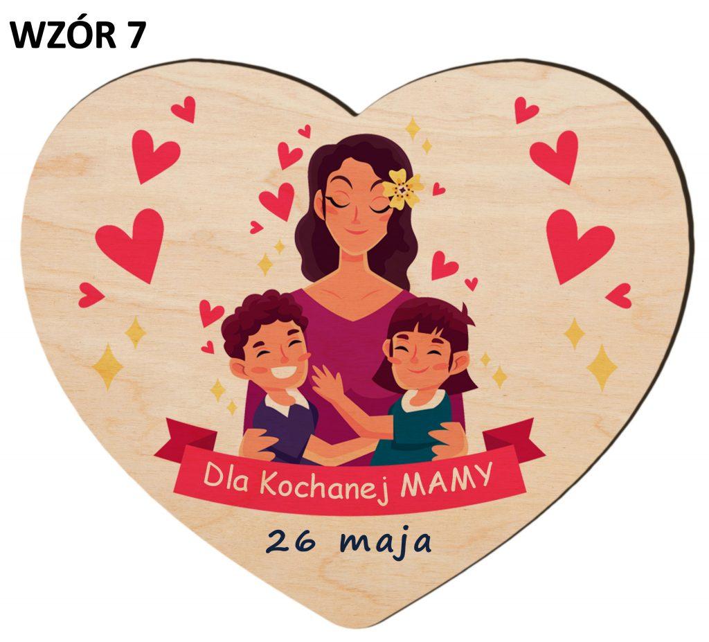 Serce z magnesem na Dzień Matki - wzór 7