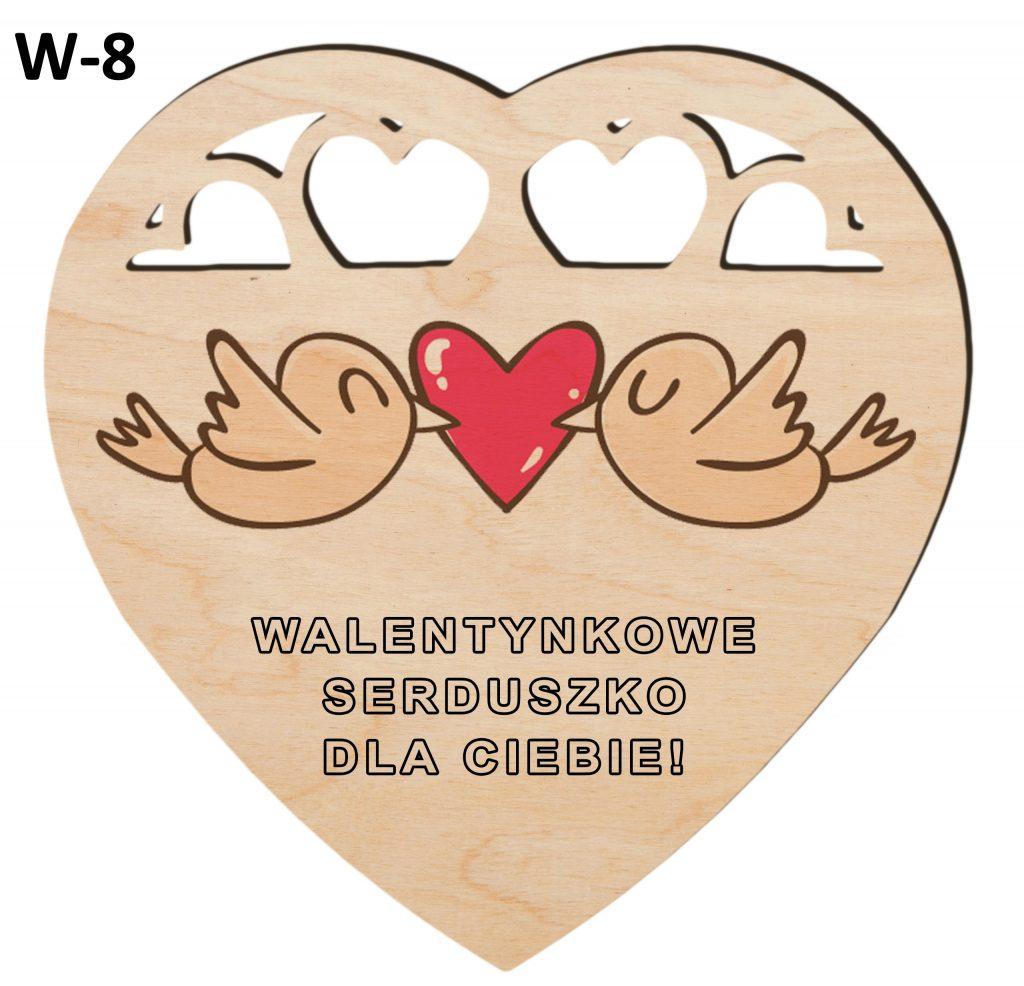 Pamiątki na Walentynki - serduszko wzór 8