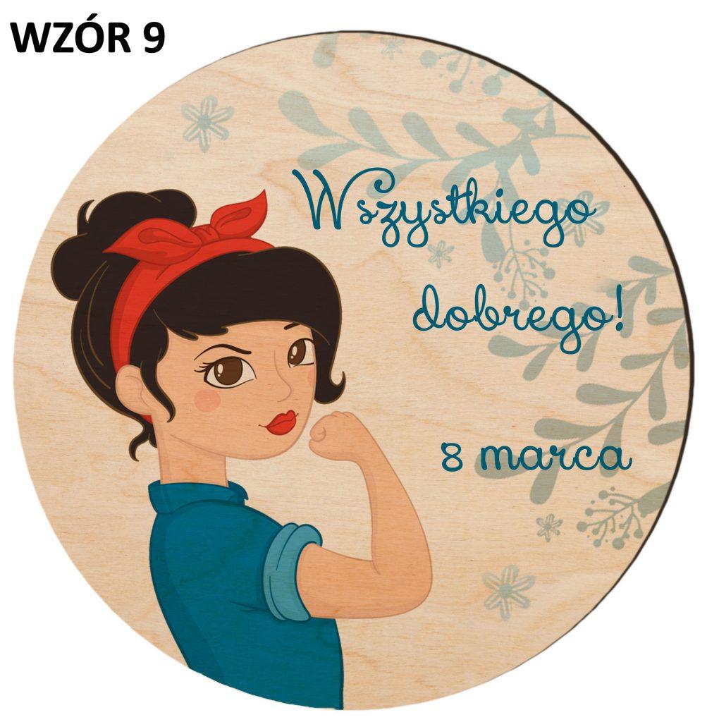 Prezenty na Dzień Kobiet - magnesy wzór 9