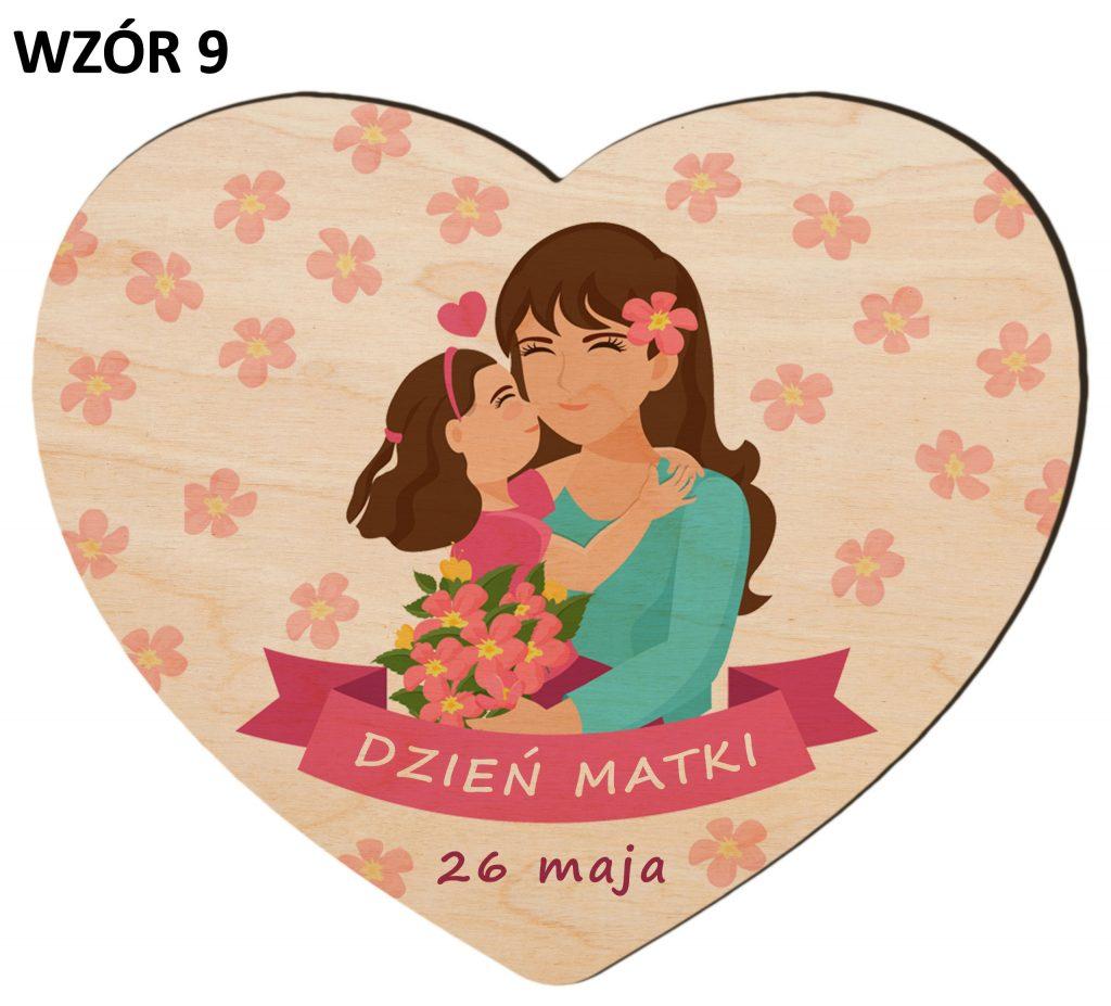 Serce z magnesem na Dzień Matki - wzór 9