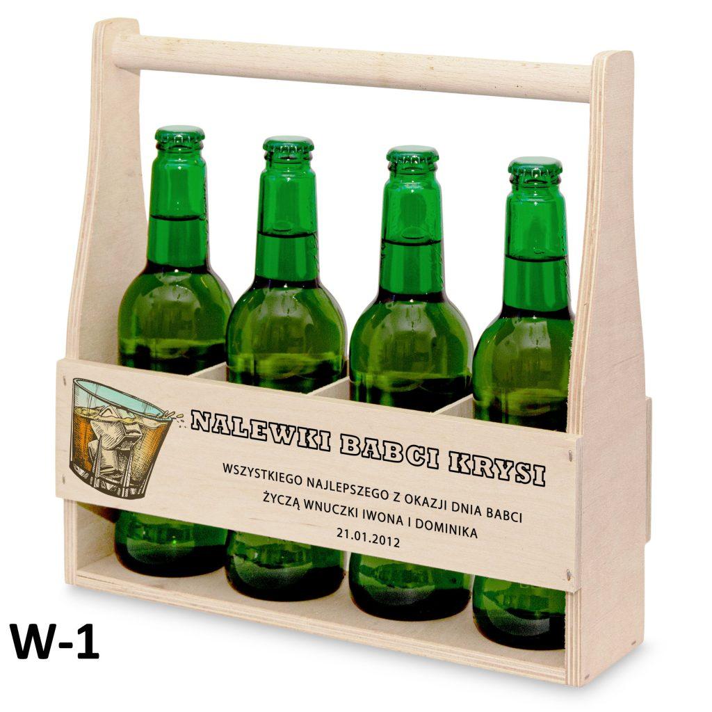 pamiątki na dzień babci i dziadka - nosidełko na piwo wzór 1
