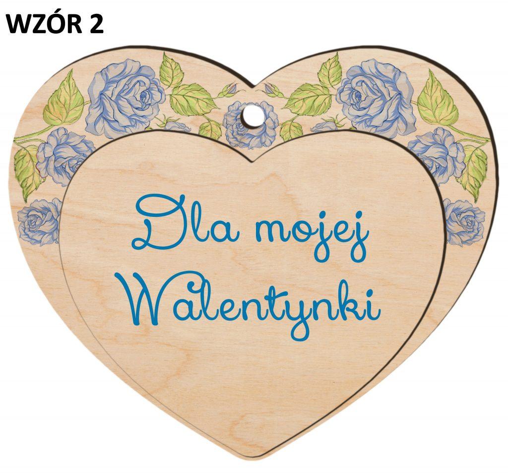 zawieszka walentynkowa - serce wzór 2
