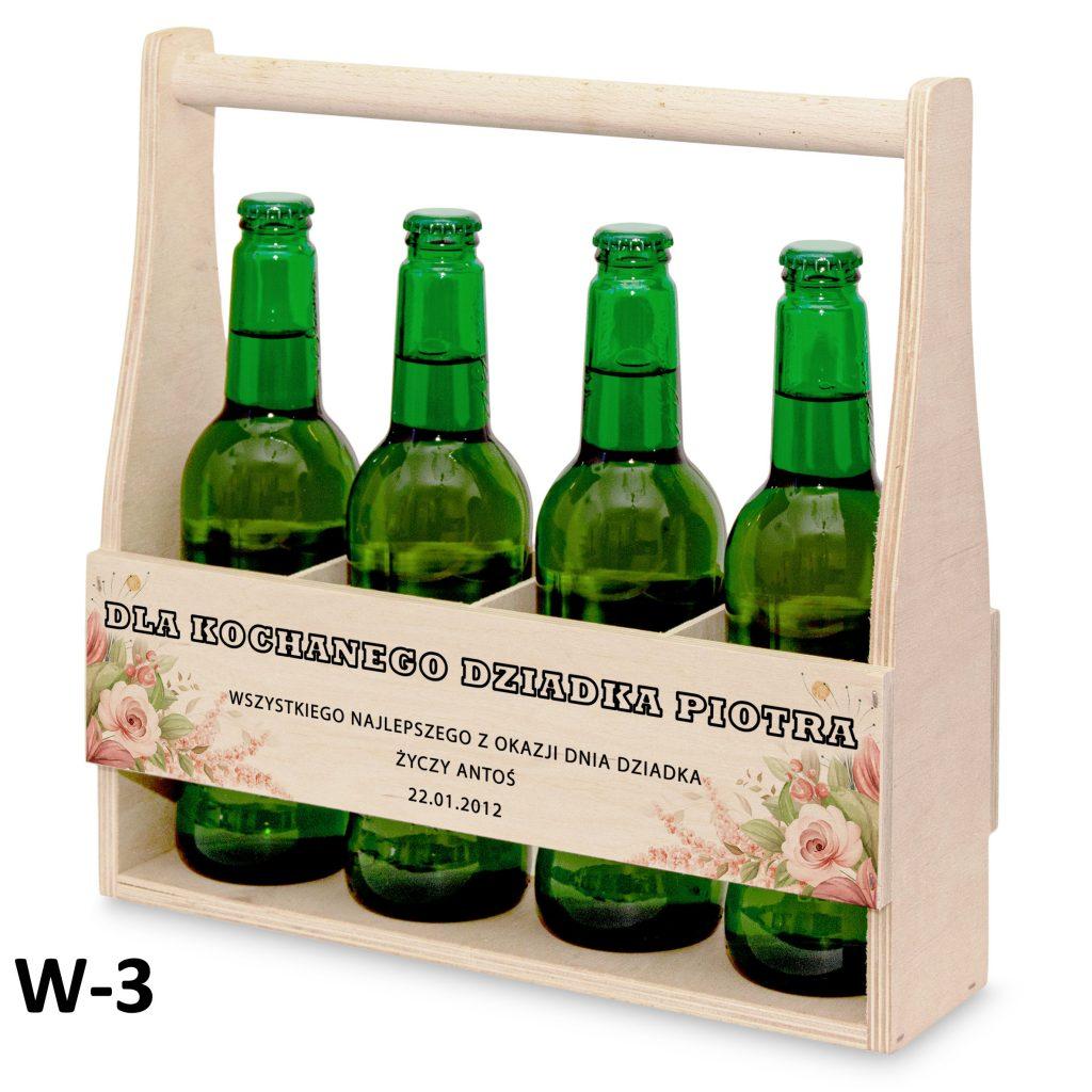 pamiątki na dzień babci i dziadka - nosidełko na piwo wzór 3