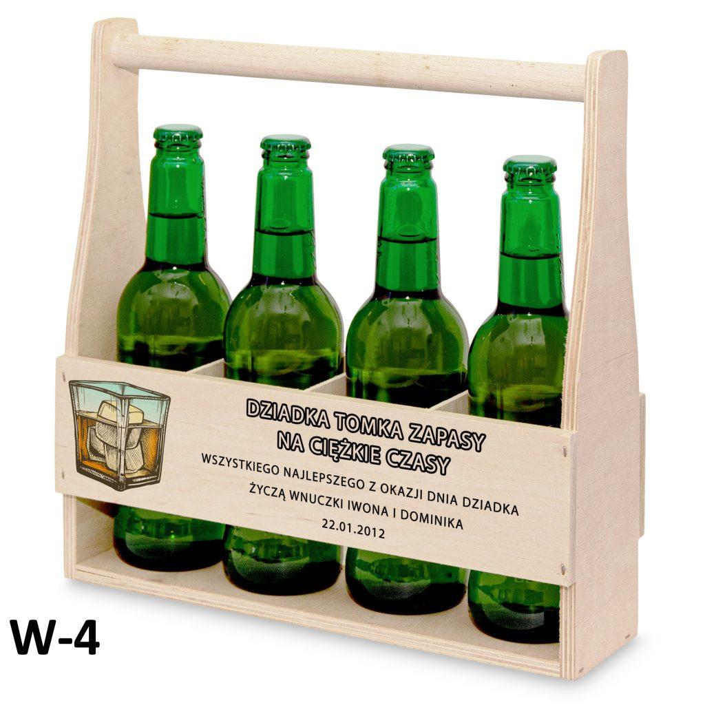 pamiątki na dzień babci i dziadka - nosidełko na piwo wzór 4