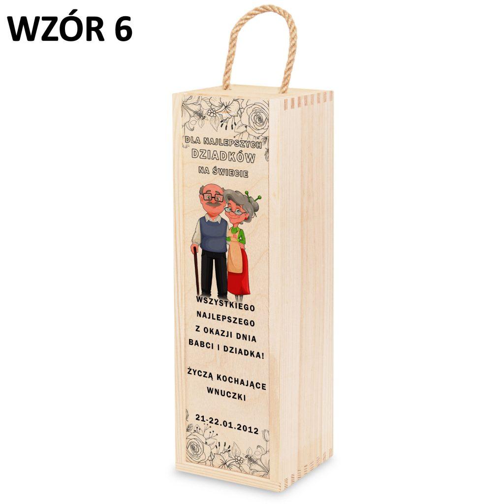skrzynka na wino dla babci i dziadka - prezent wzór 6