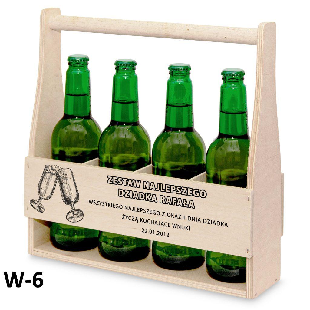 pamiątki na dzień babci i dziadka - nosidełko na piwo wzór 6