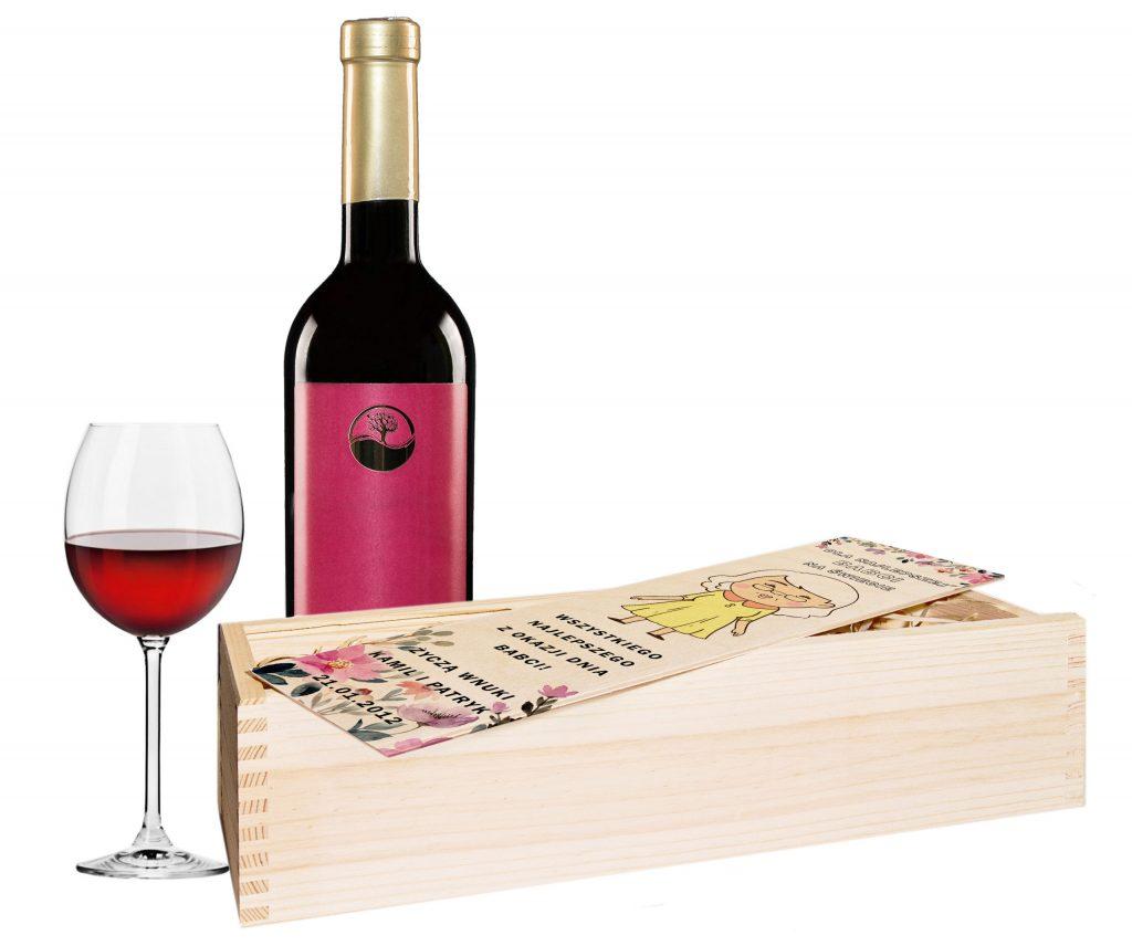 skrzynka na wino dla babci i dziadka